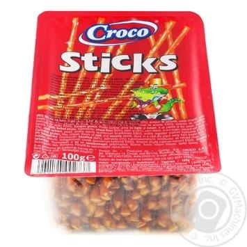 Соломка Croco Sticks солона з сіллю 100г - купити, ціни на Novus - фото 1