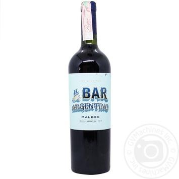 Вино El Bar Malbec Mendoza красное сухое 12% 0,75л