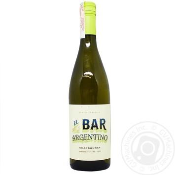 Вино El bar Mendoza Chardonnay белое сухое 12% 0,75л