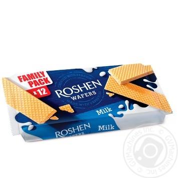 Вафлі Roshen Wafers з молочною начинкою 216г - купити, ціни на Novus - фото 1
