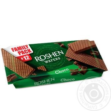 Вафли Roshen Wafers шоколад 216г - купить, цены на Novus - фото 1