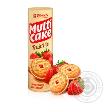 Roshen Multicake strawberries with cream cookies 195g - buy, prices for Furshet - image 1