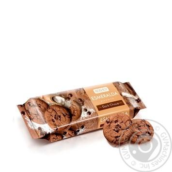 Печенье Roshen Эсмеральда Шоколадное с шоколадными кусочками 150г - купить, цены на Novus - фото 1