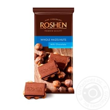 Шоколад Roshen Classic с целыми лесными орехами 90г - купить, цены на Ашан - фото 2