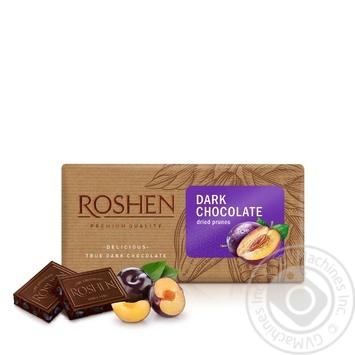 Шоколад Roshen черный с черносливом 90г - купить, цены на Novus - фото 1