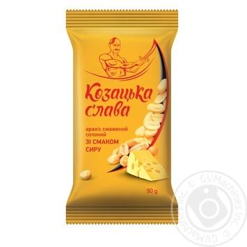 Арахіс Козацька слава смажений солоний зі смаком сиру 90г - купити, ціни на МегаМаркет - фото 1