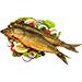 Prepared fish