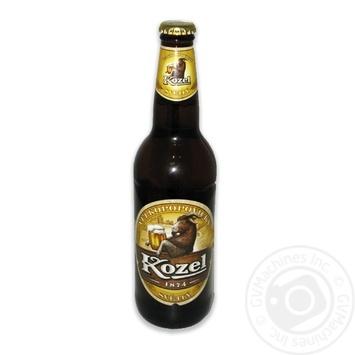 Пиво Velkopopovicky Kozel светлое 4% 0,5л