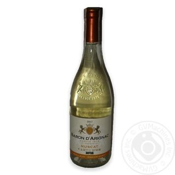 Вино Baron d`Arignac Muscat белое полусладкое 10.5% 0,75л
