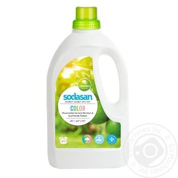 Средство Sodasan для стирки цветных вещей со смягчителем воды 1.5л - купить, цены на МегаМаркет - фото 1