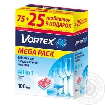 Таблетки для посудомойной машины Vortex All in 1 100шт/уп - купить, цены на ЕКО Маркет - фото 8