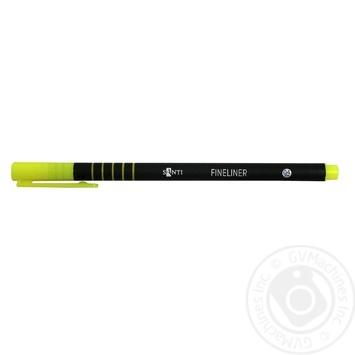 Файнлайнер Santi цветной универсальный 0,4мм - купить, цены на Ашан - фото 1
