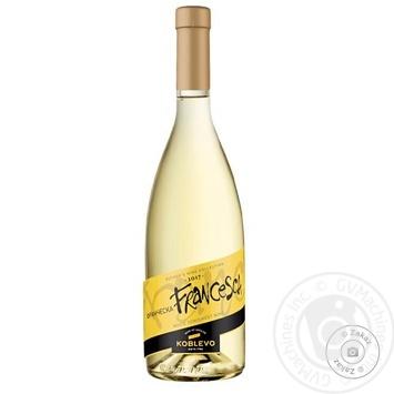 Вино Koblevo Франческа біле напівсолодке 12% 0,7л