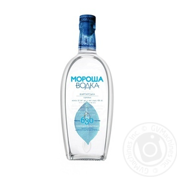 Morosha Carpathian vodka 40% 0,5l