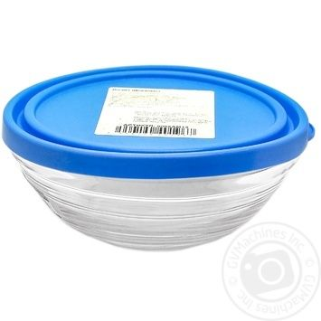 Миска Lys з синьою кришкою Duralex 500 мл 14 см - купить, цены на Novus - фото 1