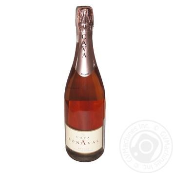 Вино игристое Cava Bonaval Brut Rosato розовое сухое 11,5% 0,75л