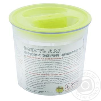 Контейнер для сыпучих продуктов Пластторг 0,8л цвет в ассортименте - купить, цены на Varus - фото 2