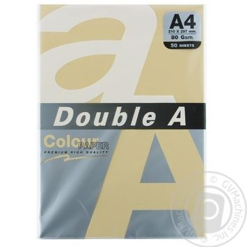 Double A Colored Peachy Paper A4 50 Sheets