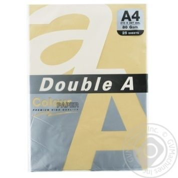 Папір Double A кольоровий персиковий А4 25 аркушів