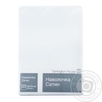 Наволочка Tarrington House сатин білий - купити, ціни на Метро - фото 1