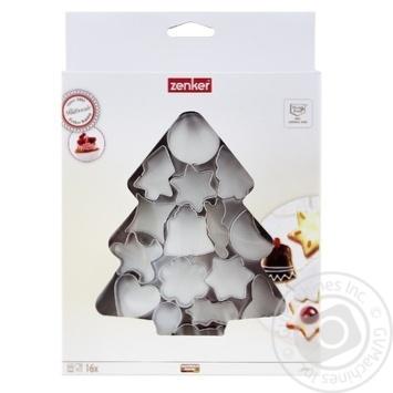 Набор форм для вырезания печенья Zenker Елка 16шт - купить, цены на МегаМаркет - фото 1