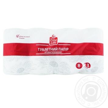 Туалетная бумага Fine Life 3сл 8 рул с ароматом ромашки