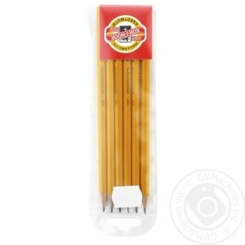 Олівець Kooh-I-Noor графіт 2НВ-2В 6шт - купити, ціни на Метро - фото 1