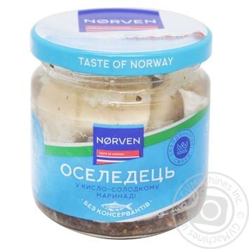 Оселедець Norven у кисло-солодкому маринаді 190г - купити, ціни на МегаМаркет - фото 2