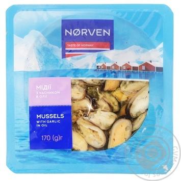 Мидии Norven в чесночном соусе 170г - купить, цены на Таврия В - фото 1