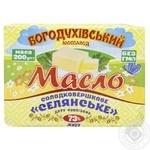Масло Богодуховский молзавод Крестьянское сладкосливочное 73% 200г