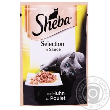 Корм Sheba Selection для котов с курицей в соусе 85г - купить, цены на Фуршет - фото 1