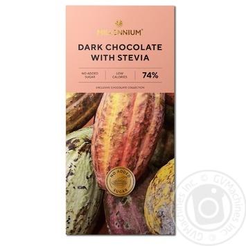 Шоколад Millennium черный со стевией 74% 100г - купить, цены на СитиМаркет - фото 1