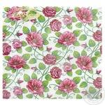 La Fleur Pink Linen Napkins 33x33cm 2 layers 20pcs