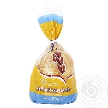 Батон Кулиничи нарезной обычный 250г - купить, цены на МегаМаркет - фото 1