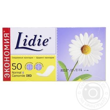 Прокладки ежедневные Lidie Deo 50шт - купить, цены на Ашан - фото 1