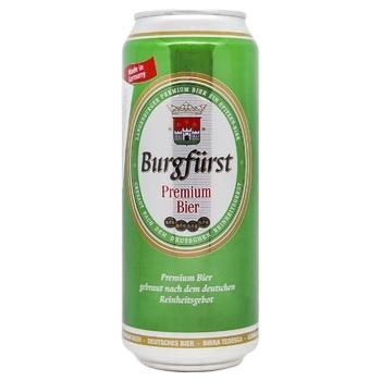 Пиво Burgfurst Премиум светлое 0,5л