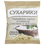 Сухарики Выгода Сметана и зелень пшенично-ржаные 70г