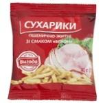 Сухарики Выгода Бекон пшенично-ржаные 40г