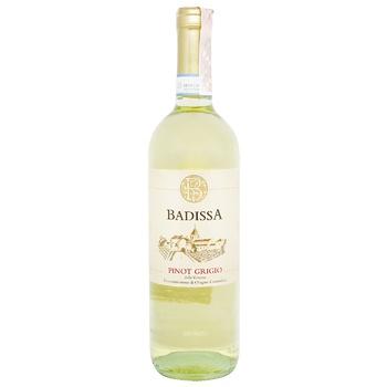 Вино Badissa Pinot Grigio белое сухое 0,75л