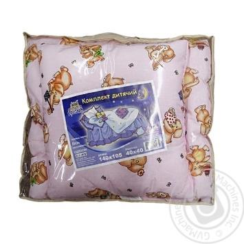 Одеяло Ярослав силикон, бязь детское 140х110см