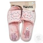 Обувь домашняя женская Twins HS Standart велюр р.38-39