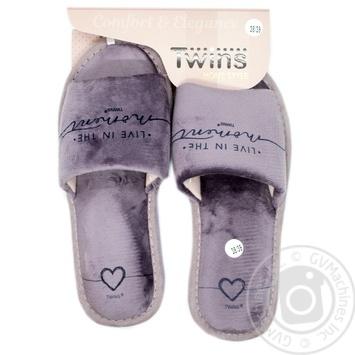 Комнатные тапочки Twins HS Standart Лиловые женские размер 36/37 - купить, цены на Novus - фото 2