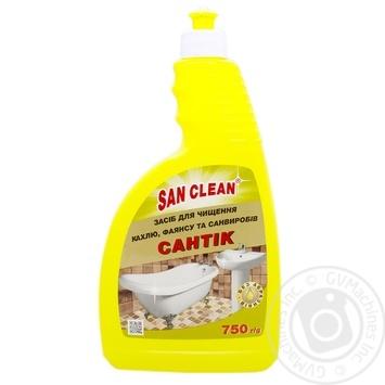 Засіб для чищення кафеля Сан Клін Сантік 750г - купити, ціни на МегаМаркет - фото 1
