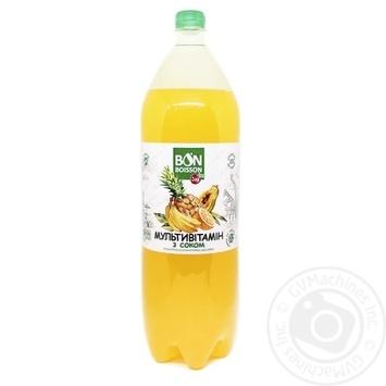 Напиток Бон Буассон Мультивитамин безалкогольный сокосодержащий сильногазированный пластиковая бутылка 2000мл Украина - купить, цены на Фуршет - фото 2