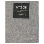 Серветка Hygge Black чорна бавовняна 35х45см