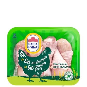 Голень Наша Ряба цыпленка-бройлера охлажденная (упаковка ~ 1,1кг)
