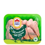 Ассорти Наша ряба крыло и бедро курицы бройлера охлажденное (упаковка PET ~1,1кг)