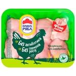 Филе бедра курицы Наша ряба цыпленка-бройлера охлажденное (упаковка PET ~ 1,1кг)