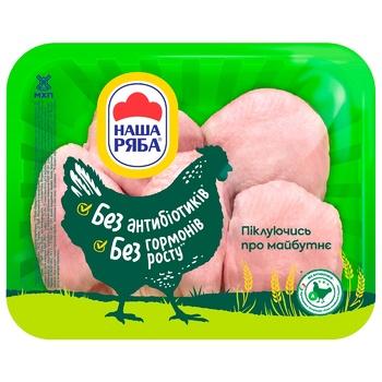 Бедро Наша Ряба цыпленка-бройлера охлажденное (упаковка ~1,1кг) - купить, цены на Метро - фото 1