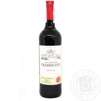 Вино Chamboustin красное полусухое 11,5% 0,75л
